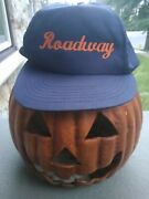 Old Vintage Hat Trucker Snapback Advertising Roadway Express Trucking Company
