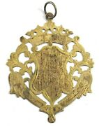 Decorative Medallion Ornaments Old Vintage Collectible Silver Plated. G29-104 Us