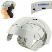 Electric Head Massager Helmet Scalp Relax Acupuncture Points Machine Usa Ce