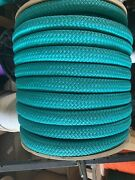 """1 1/8"""" X 145 Ft Double Braidyacht Braid Polyester Rope. Turquoise. Usa Made."""