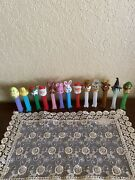 Lot Of 13 Pez Dispensers - Holidays Christmas Easter Santa Claus Bunny Elf Witch