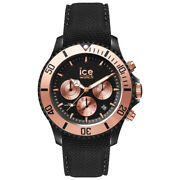 Ice Urban Black Rose Gold Steel With Black Silicone Strap Men's Watch. 016307