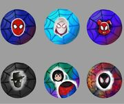 Spiderman Into The Spider-verse Buttons Miles Morales Gwen Stacy Peter Parker