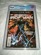 Invincible Iron Man 9 Cgc 9.6 White Pages 1st Full Appearance Of Riri Williams