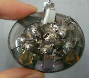 Antique Victorian Scottish Agate Amethyst And Citrine Silver Brooch