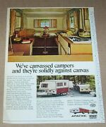 1972 Print Ad Page - Apache Camping Travel Trailer Camper Vesely-lapeer Michigan