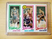 Magic Johnson Rc Long Boone Topps 1980 Rookie Auto Psa Witnessed