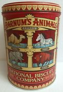 Retired Discontinued Design Barnums Animal Crackers Tin Circus