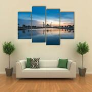 Central Mosque In Songkhla 4 Pcs Canvas Wall Art Picture Poster Home Decor