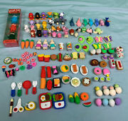 Assorted Iwako Japanese And Other Novelty Erasers Animal Food Fruit Accessories