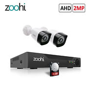 Zoohi 1080p Cctv Security Camera System Wired Hd 4ch Dvr Night Vision 1tb Hdd Ir