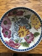 Large Asian Floral Bowl 10andrdquox4.5andrdquo Home Decor Excellent Condition