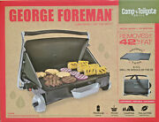 George Foreman Camping Tabletop Tailgating Portable Propane Grill Griddle Black