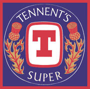 Menand039s Ladies T Shirt Comedy Alcohol Tennents Super Strong Lager Beer Tramp