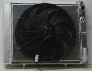 1961-1962 Corvette Aluminum Radiator And Fan For Ls1 Ls2 Ls3 Made In Usa