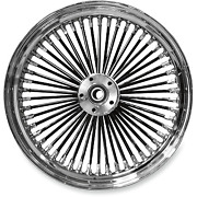 Drag Specialties - 04225-2028-08bs - Fat Daddy Black 50 Spoke Radially Laced Fro