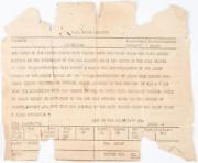 Original Wwii Naval Dispatch Announcing Victory In Japan On August 15 1945