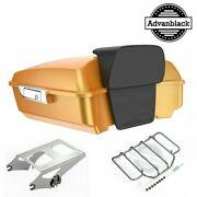 Hard Candy Gold Flake Chopped Tour Pack Trunk Luggage For 97-20 Harley Touring
