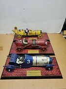 Vintage Collection Die Cast 1900s Reproduction Race Car Set Of 3 Numbered Enesco