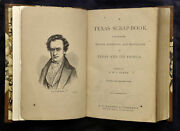 D W C Baker / Texana Texas Scrap-book Made Up Of The History Biography 1st 1875