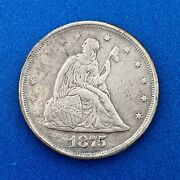 1875 S Silver Seated Liberty Twenty Cent Piece 3 Year Type San Francisco Coin