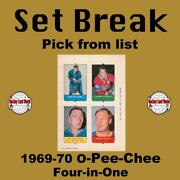 Hcw 1969-70 O-pee-chee Four-in-one Nhl Hockey Cards Set Break - Pick From List