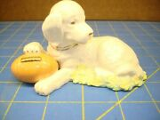 Lenox Touchdown Puppy September Football Dog Excellent Perfect Clean Condition