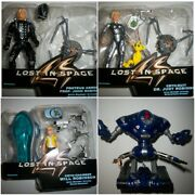 1997 Lost In Space Trendmasters Action Figures Lot Of 4 Will, Judy, John, Robot