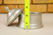 Woodbury Small Pewter Dish Container Jar Lid Gift Props Old Unusual Estate Yu