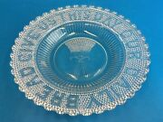 Give Us This Day Our Daily Bread Religious Christian Dimpled Clear Glass Plate