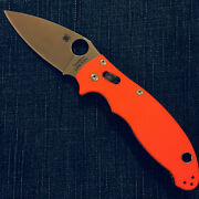 Nib Spyderco Cutlery Shoppe Exclusive - Manix 2 In Orange G-10 Scales And Cpm S30v