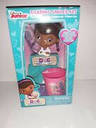 Disney Doc Mcstuffins Sparkling Smile Set Toothbrush Holder And Rinse Cup New