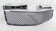 Upper Grill For 2003-2007 Cadillac Cts Luxury V-style Chrome Front Mesh Grille