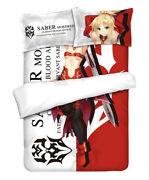 Anime Fate/grand Order Mordred Quilt Cover Blanket Bed Sheet Bedding 59x78