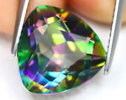 Natural Mystic Opal Loose Gemstones Trillion Shape Facted Cut 16mm To 20mm