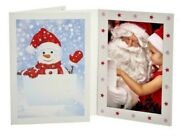 New- Snowman 4x6 Holiday Photo Frames Pack Of 250 Tap - Card Stock