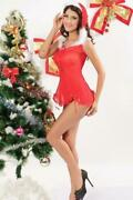 Red Chemise Jingle Bell Christmas Dress Costume S/m Cr7508