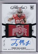 Terry Mclaurin 2019 Flawless Collegiate Ohio State Patch Rc On Card Auto Ed 1/1