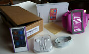 Apple Ipod Nano 7th Generation 16gb Mp3 Player Silver With Extras Ligthly Used