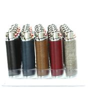 Full Tray/case 50/pcs Bic Hidez Reg Size Simulated Leather Case Lighters