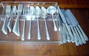Vintage 1847 Rogers Silverplate Flatware Adoration Service For 12 53 Pieces