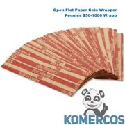 Papr Products 30001 Open Flat Paper Coin Wrappers-pennies-50-1000 Wrapp