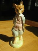 Beatrix Potter's Foxy Whiskered Gentleman All-gold Backstamp Bp2a Beswickengland