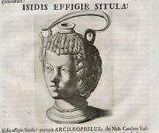 Isidis, Egyptian Goddess, Isis In Shape Of A Jug -1696 Beger Engraving