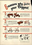 1954 Paper Ad 2 Pg Bmc Toy Pedal Car Farm Tractor Road King Coaster Wagon Amf