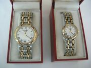 Raymond Weil Round Dual Tone Silver And Gold Watches His And Hers Vintage Classic