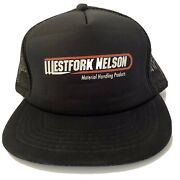 West Fork Nelson Trucker Hat Mesh Snapback Material Handling Products Black