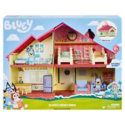 Bluey Blue Heeler Dog Bluey's Family Home House Playset Figure Pack And Go New