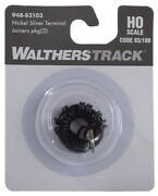 Ho Scale Walthers 948-83103 Code 83/100 Nickel Silver Terminal Joiners Pkg 2