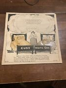 1935 Bell Syndicate Chicago Cubs White Sox Press Cartoon Rare Unique